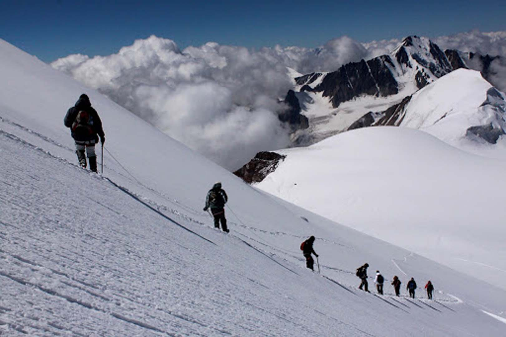 Georgie Kazbegi Climbing